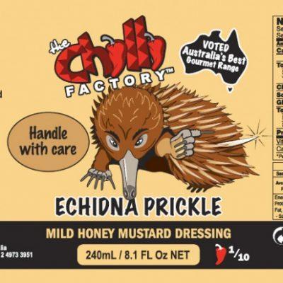 The Chilli Factory Echidna Prickle Mild Honey Mustard Dressing Chili Sauce