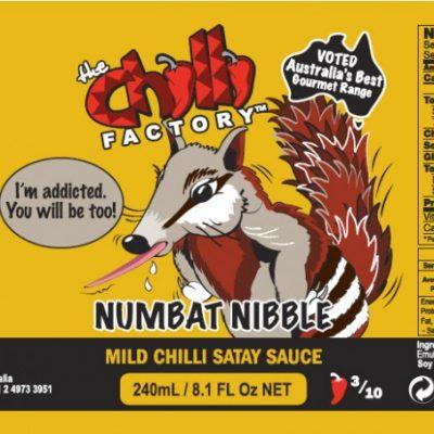 The Chilli Factory Numbat Nibble Mild Chili Satay Sauce
