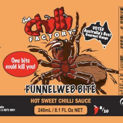 The Chilli Factory Funnelweb Bite Hot Sweet Chili Sauce