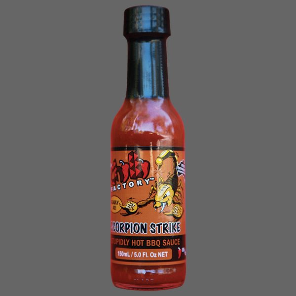 Scorpion Strike Stupidly HOT BBQ Sauce - 600x600 v2