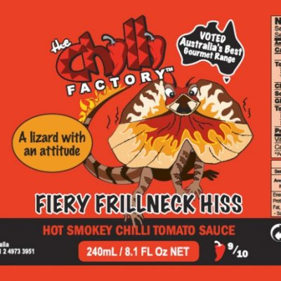 The Chilli Factory Fiery Frillneck Hiss Hot Smokey Chili Sauce