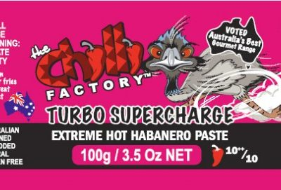 The Chilli Factory Turbo Supercharge Extremely Hot Habanero Paste Chili Sauce