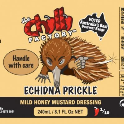 The Chilli Factory Echidna Prickle Mild Honey Mustard Dressing Chili Sauce