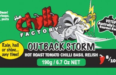 The Chilli Factory Outback Storm Hot Chili Basil Relish Sauce