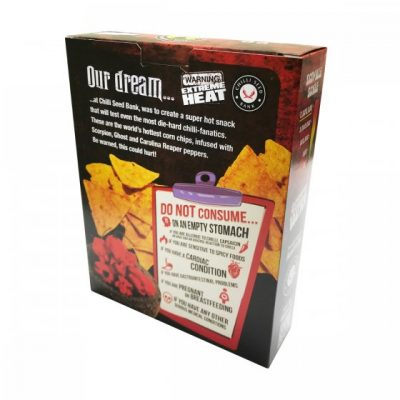 World's Hottest Corn Chips - Rear  Box